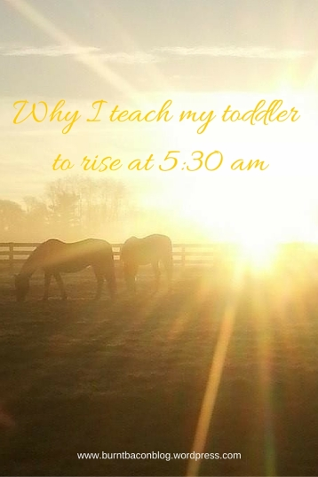Why I teach my toddler to rise at 5_30 am